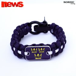 Royal Crown Paracord armband - Navy Blue/White