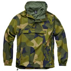 Brandit Summer Windbreaker- Swedish M90 Camo