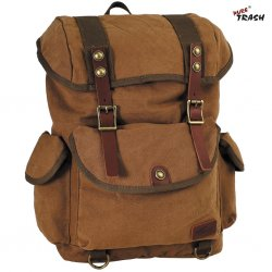 Max Fuchs Army Infantry Canvas Backpack- Brown