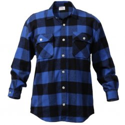 Original U. S. Flannel Shirt Blå / Sort
