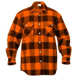 Flannel skjorte Hr Rothco Orange / Sort