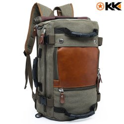 Kaka Canvas Hiking Backpack 40L - Army Green