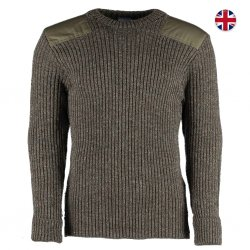 Woolly Pully Military Nato Knitwear - Derby Tweed