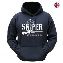 Brittisk Hoodie - Sniper  Sniper Out of Sight - Black