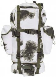 BW combat back pack, big, BW wintercamo