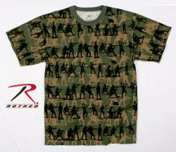 US Rothco t-shirt med Soldat tryck