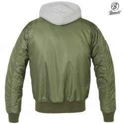 Brandit MA1 Sweat Hooded Jacket - OD