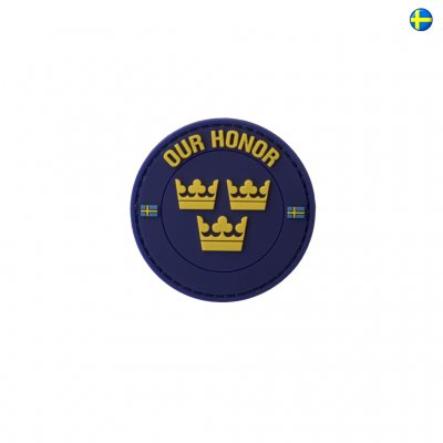 3D PVC Swedish Patch Our Honor - Navy Blue