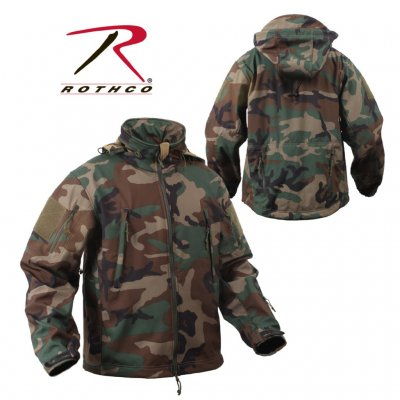 ROTHCO Special OPS Tactical Softshell Jakke Woodland Camo