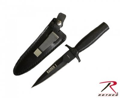 BLACK MATTE RAIDER I BOOT KNIFE