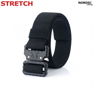 Nordic Army Tactical Belt Stretch- Black