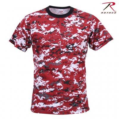 91452de3 Rothco Digital Red Camo T-Shirt - T-Shirts - Clothing - Armygross.dk