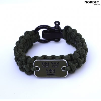 Royal Crown Paracord armband - Army Green