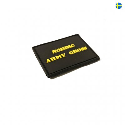 Nordic Army Gross Rubber logo - Black