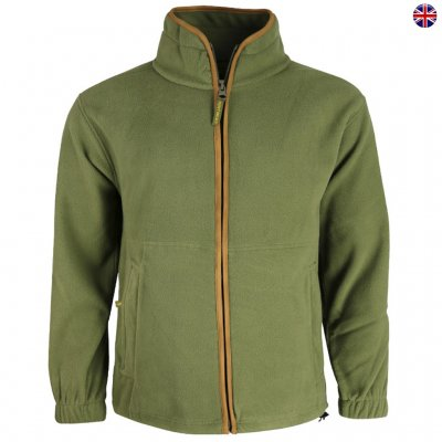 Brittisk Huntsbury Fleece Jakke Olive