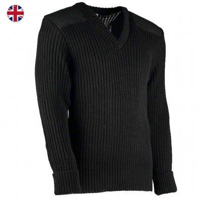 Woolly Pully Military Nato Knitwear - Black