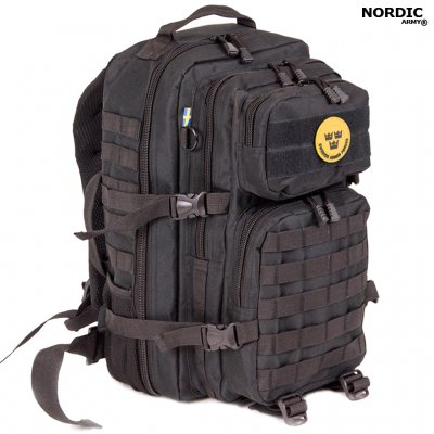 Nordic Army® Assault rygsæk Net Pocket 50L - Sort