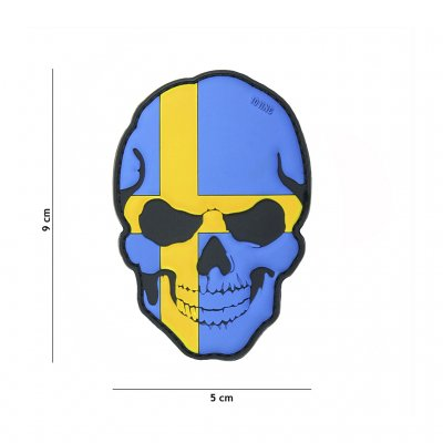 Patch 3D PVC skull Sweden