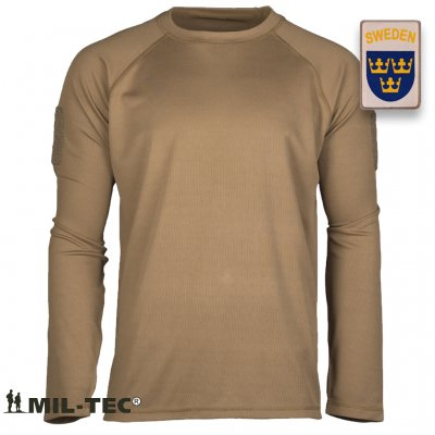 TACTICAL LONG SLEEVE SHIRT QUICKDRY - Coyote Brun