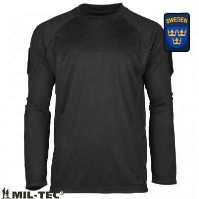 Mil Tec Quick Dry Långärmade T Shirts Svart
