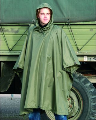 US Regnponcho OD Ripstop