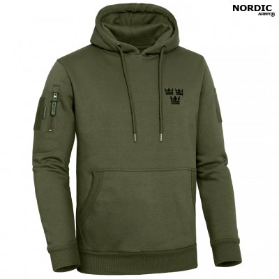 Nordic Army® Tactical Deluxe Hoodie 3 Crown - Olive